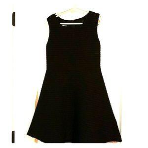 Girls Size 10 A line sleeveless dress- Black